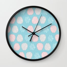 Pastel Brains Pattern Wall Clock