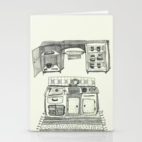 kitchen Stationery Cards featuring Kitchen by piankaB