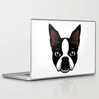 boston Laptop & iPad Skins featuring boston by the art of dang