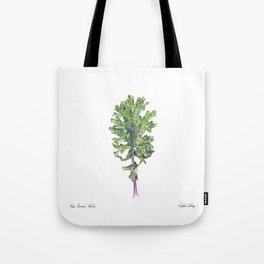Red Russian Kale Tote Bag