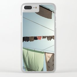 Clothes Line Clear iPhone Case