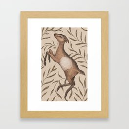 The Goat and Willow Framed Art Print