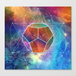 Abstract Sacred Geometry Cosmic Space Tapestry Canvas Print