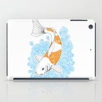 koi fish iPad Cases featuring Koi fish  by Art & Be