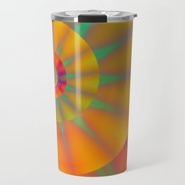 The Golden Sprial with Spikes Travel Mug