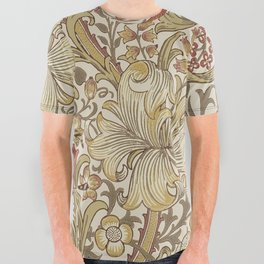 William Morris Vintage Golden Lily Biscuit Brick  All Over Graphic Tee