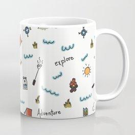 Adventure Pattern | Camping Pattern | Hiking Pattern | Hand Drawn Outdoors Pattern Coffee Mug