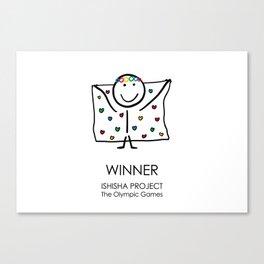 WINNER by ISHISHA PROJECT Canvas Print