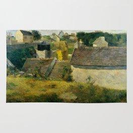 """Paul Gauguin """"Houses at Vaugirard"""" Rug"""