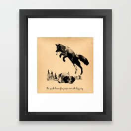 The quick brown fox jumps over the lazy dog Framed Art Print