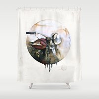 atlas Shower Curtains featuring Norton Atlas by istraille
