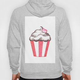 red cupcake (pointillism) Hoody