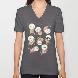 Cat-Stronauts Unisex V-Neck