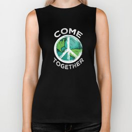 Peace Sign Hippie | Come Together Biker Tank