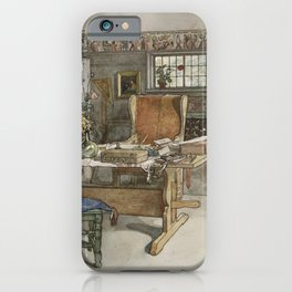 Carl Larsson - The Studio (From a Home watercolor series) iPhone Case
