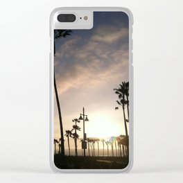 Sunset in Los Angeles at Venice Beach Clear iPhone Case