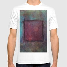 a window White MEDIUM Mens Fitted Tee