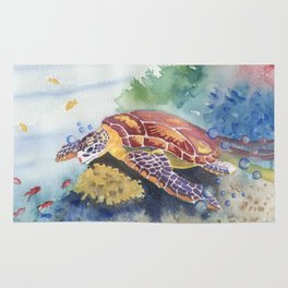 Sea Turtle and Friends Rug