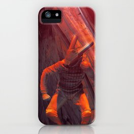 Orange Rabbit iPhone Case