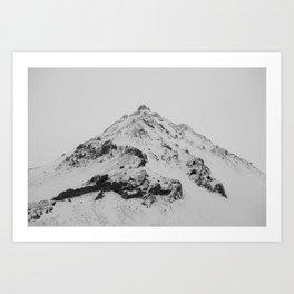 snowy icelandic mountain Art Print
