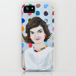 Polka Daub Jackie O iPhone Case