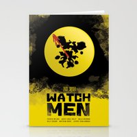 watchmen Stationery Cards featuring Watchmen poster by Lionel Hotz