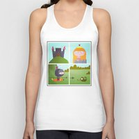 princess Tank Tops featuring princess by Sucoco