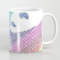 pandas Mugs featuring colourful pandas  by smurfmonster