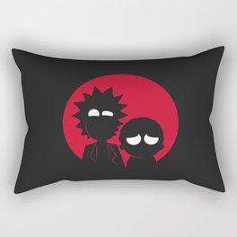Adventures of Morty and Rick Rectangular Pillow