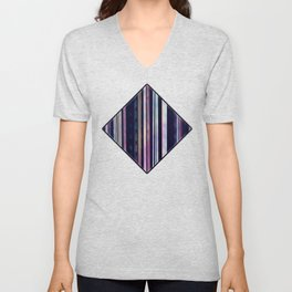 Space coloured stripes  Unisex V-Neck