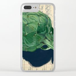 Artichoke in Gouache Clear iPhone Case