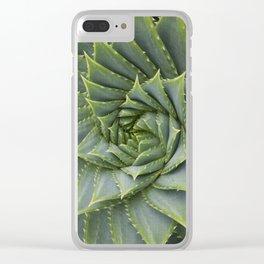 Suculent macro Clear iPhone Case