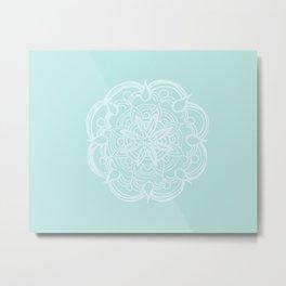 Mint Romantic Mandala #2 #drawing #decor #art #society6 Metal Print
