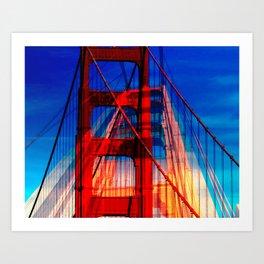 Golden Gate Collage Art Print