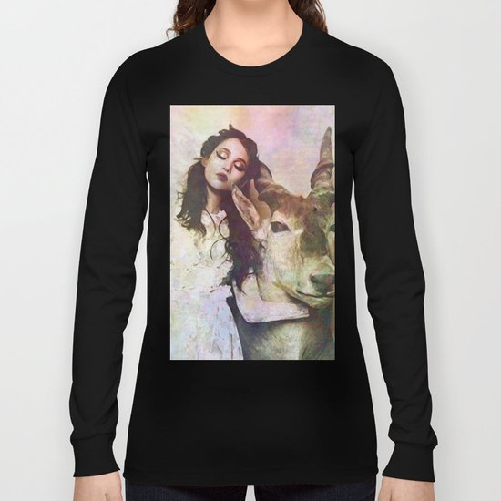 girl & deer Long Sleeve T-shirt