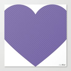 I love you this much... (purple) Canvas Print