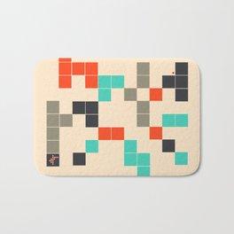 Blocky Geometric Abstract Design Bath Mat