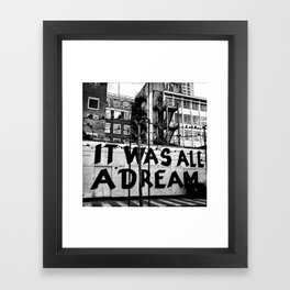 /// reality check Framed Art Print