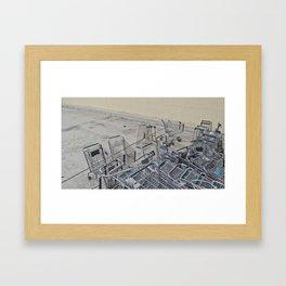Cart Shopping Framed Art Print