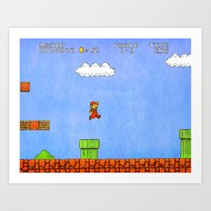 Super Mario Bros. Art Print