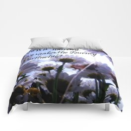 Life is a Journey Daisy Floral Comforters