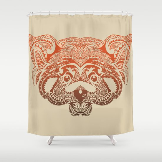 Polynesian Red Panda Shower Curtain