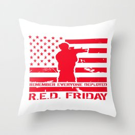 RED Friday Throw Pillow