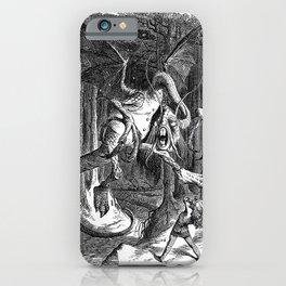 """Alice in Wonderland, the Jabberwocky"" by John Tenniel  iPhone Case"