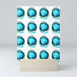 Ocean Agate Turquoise Pattern Mini Art Print