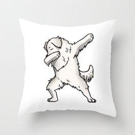 Funny Dabbing Great Pyrenees Dog Dab Dance Throw Pillow