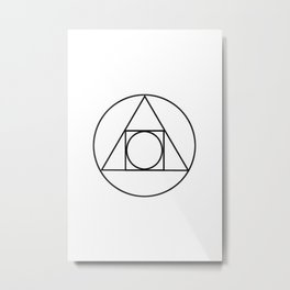 Occult Geometry Print Metal Print