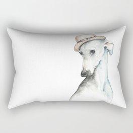Bowler hat greyhound_ Illustrious dogs. Rectangular Pillow