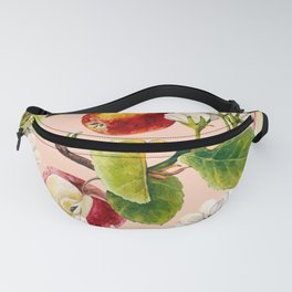 White apple blossoms and apples Fanny Pack