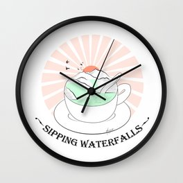 Sipping waterfalls Wall Clock